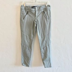 American Eagle Outfitters Olive Green Moto Pants 8
